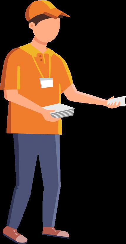 Icon flyer distribution
