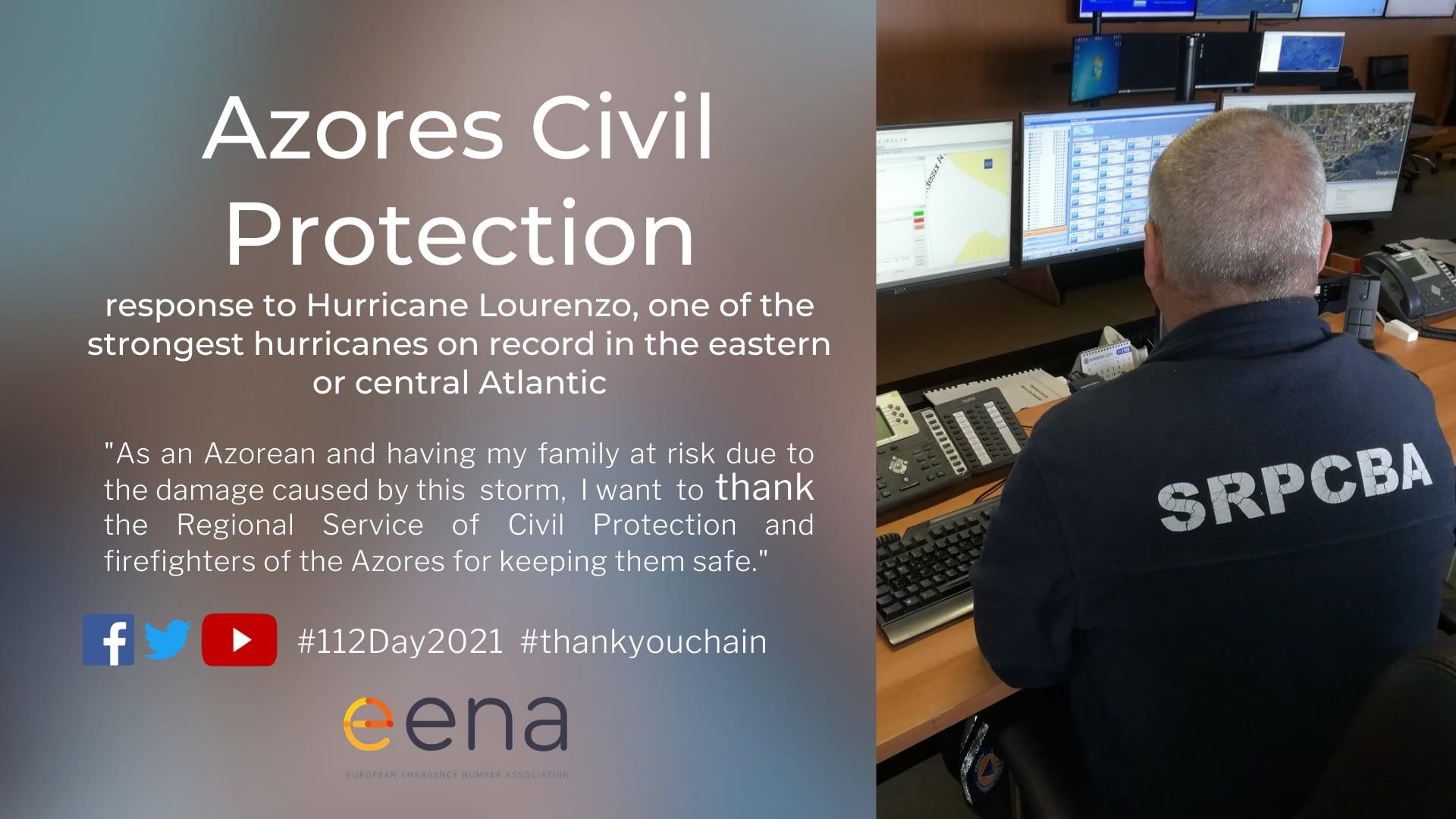 Citizen thanks the Azores Civil Protection