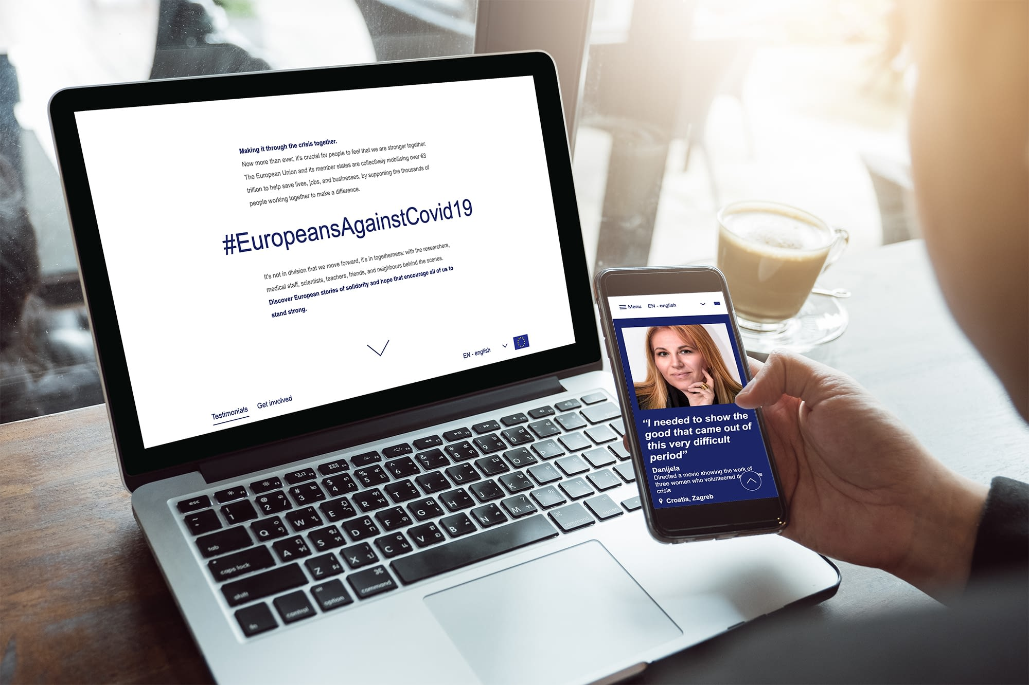 Europeans against COVID - content by Fastlane EU digital agency