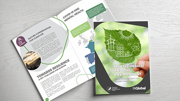 IEEP brochure on Mental health and the environment - designed by Fastlane